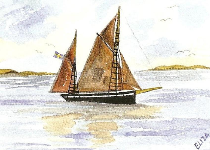 Föreningen Gullholmen båtlogga