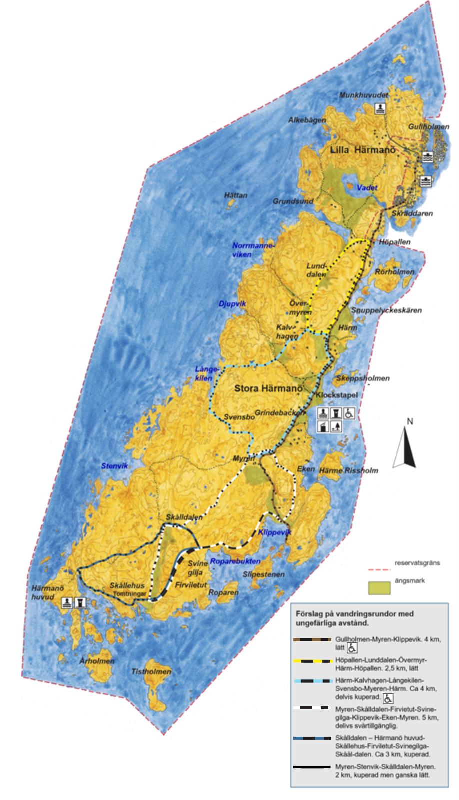 Västkuststiftelsens karta