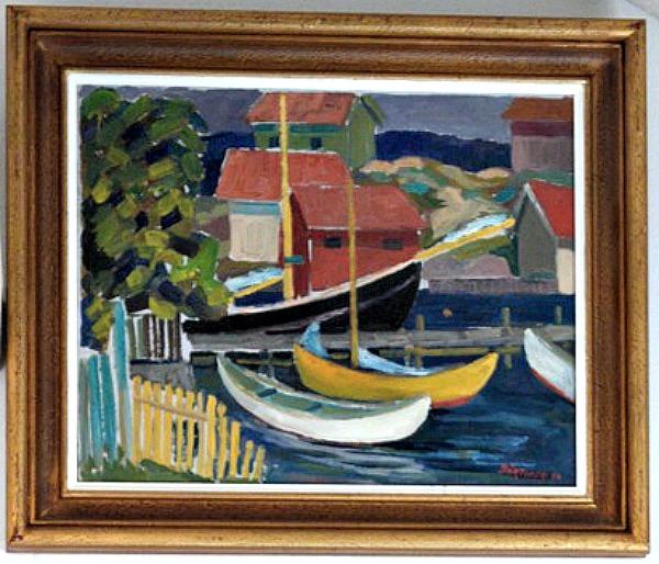 Gullskär vid Långbryggan, Gustav Börtner - Olja 1950